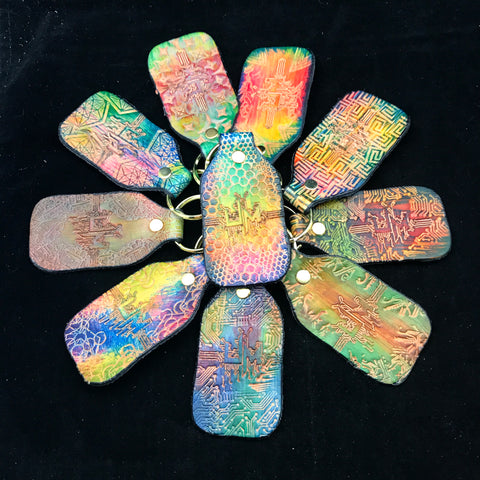 Stamped Leather Keychain- Umphreys McGee
