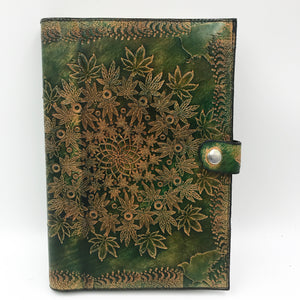 Stamped Leather Journal- Cannabis