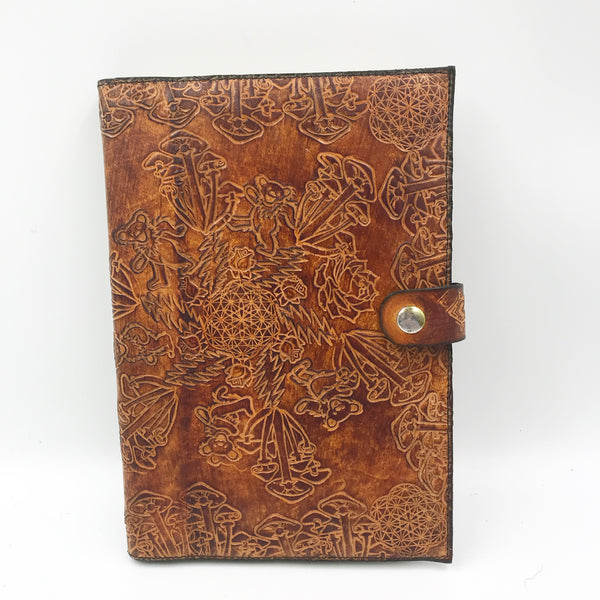 Stamped Leather Journal- Grateful