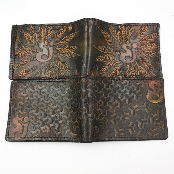 Stamped Leather Bifold Wallet- SCI