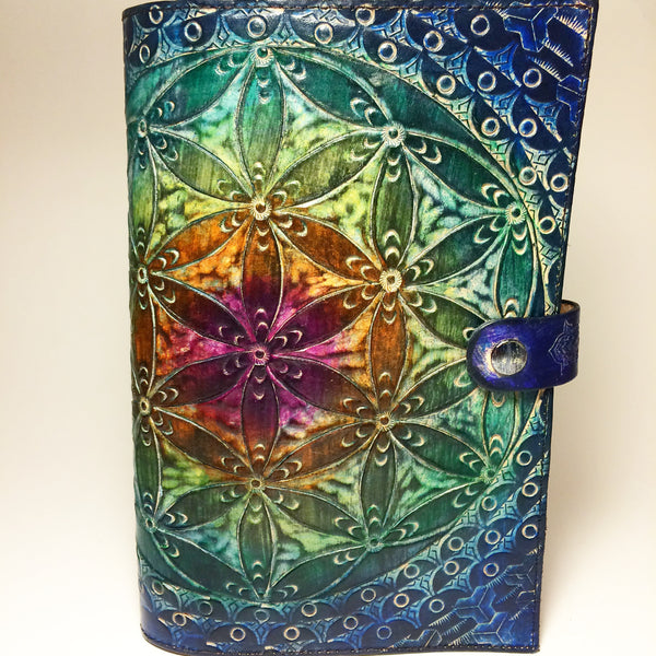 Carved Leather Journal-Flower of Life