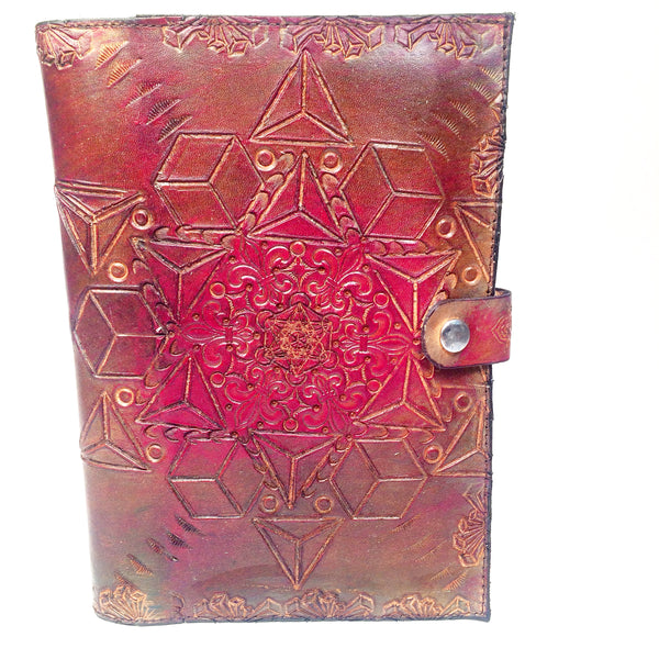 Stamped Leather Journal- Platonic Solids