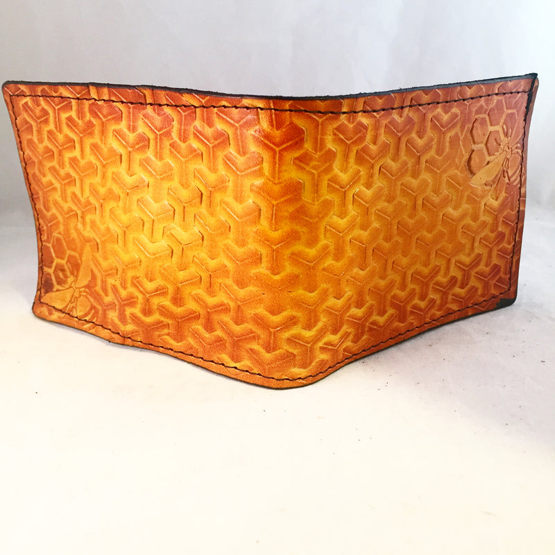 Stamped Leather Bifold Wallet-Goyard and Geometry