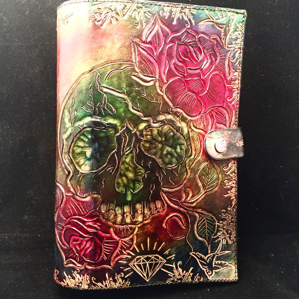 Carved Leather Journal- Tattoo Flash