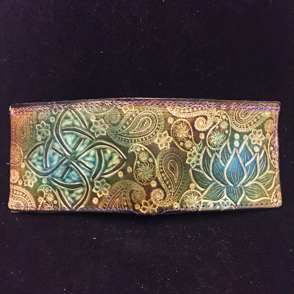 Carved Leather Bifold Wallet- Miscellaneous Music
