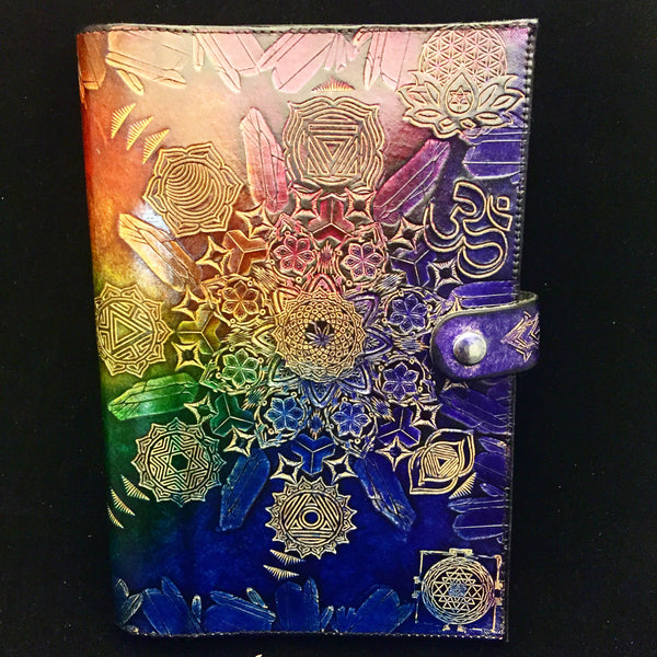 Stamped Leather Journal- Chakra Mandala