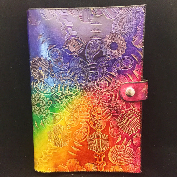 Stamped Leather Journal- Paisley Mandala