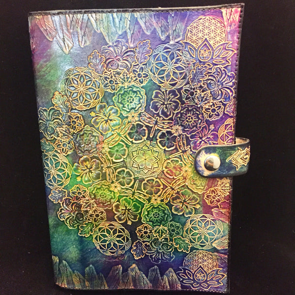 Stamped Leather Journal- Floral and Nature