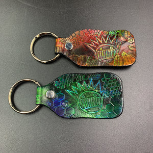 Stamped Leather Keychain-Boognish (Ween)