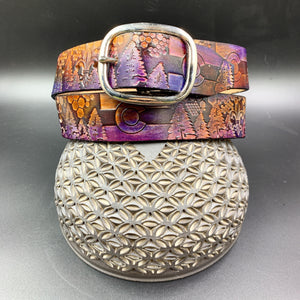Stamp Leather Belt-Colorado