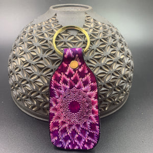 Stamped Leather Keychain-Higher Crown Chakra