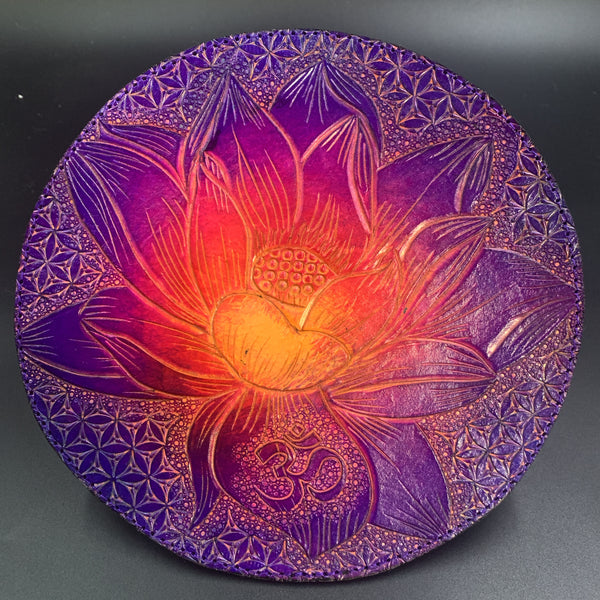 Carved Leather  Dab Mat 12 inch-Miscellaneous Design