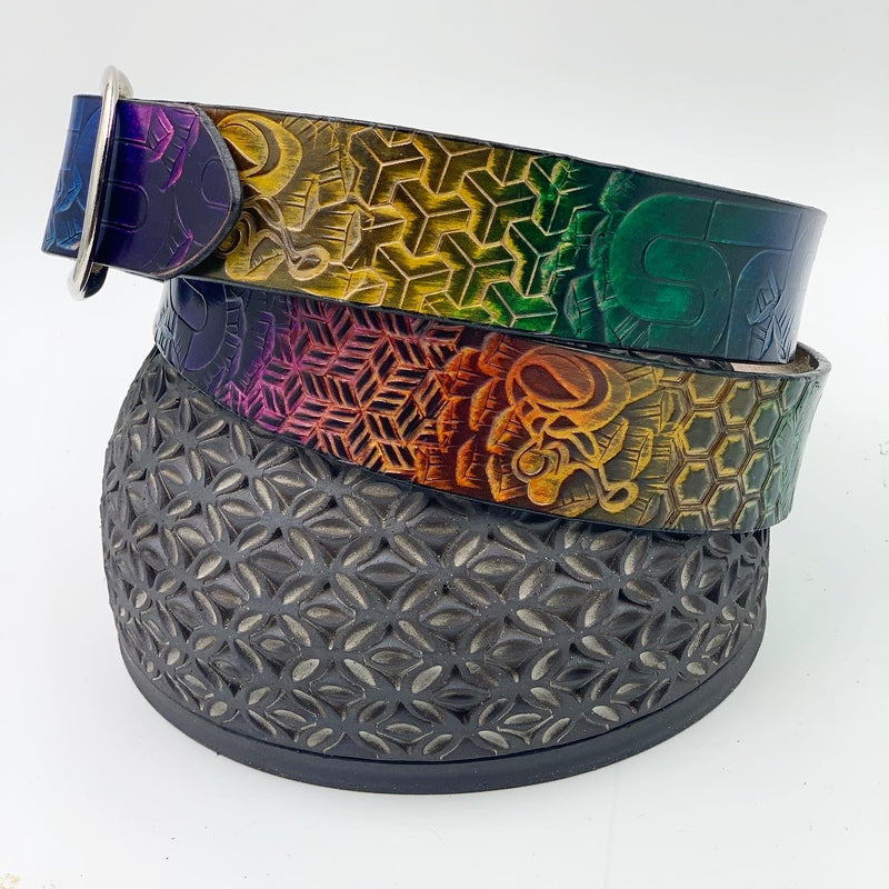 Stamped Leather Belt-Sts9