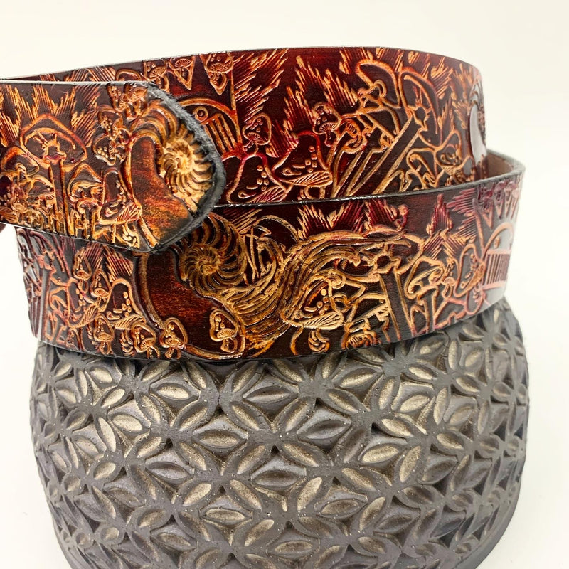 Stamped Leather Belt-Boognish