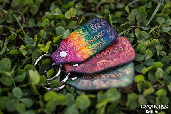 Stamped Leather Keychain- Festival Special