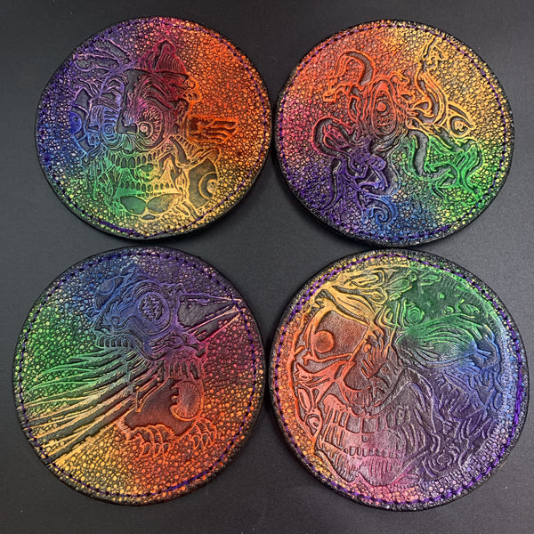 Aaron Brooks Stamped Coaster Single Lined