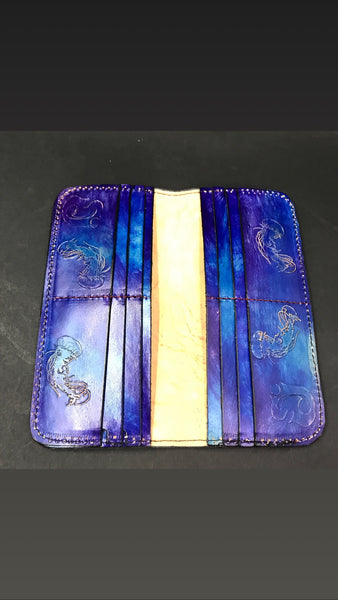 Carved Leather Bifold Clutch- Miscellaneous Designs