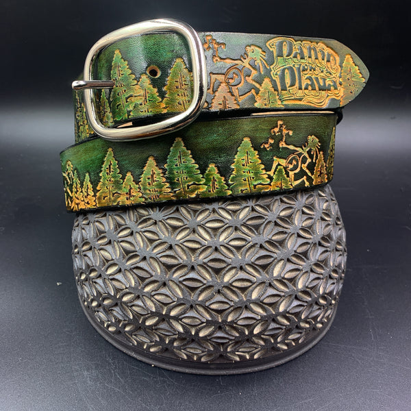 Stamp Leather Belt- Trees