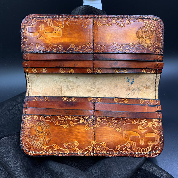 Stamped Leather Bifold Clutch- Miscellaneous Designs