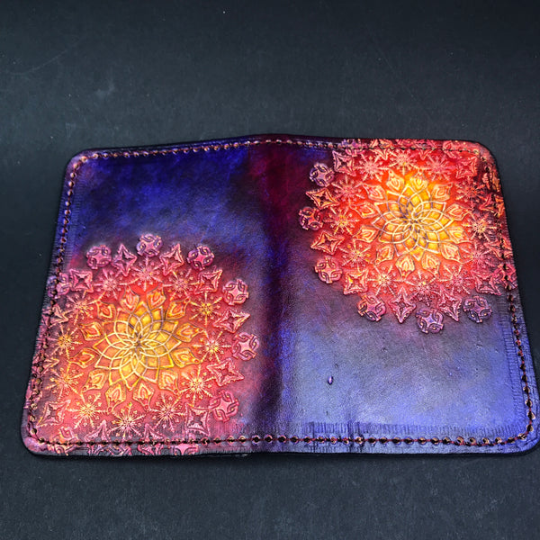 Stamped Leather Passport Wallet-Miscellaneous Designs