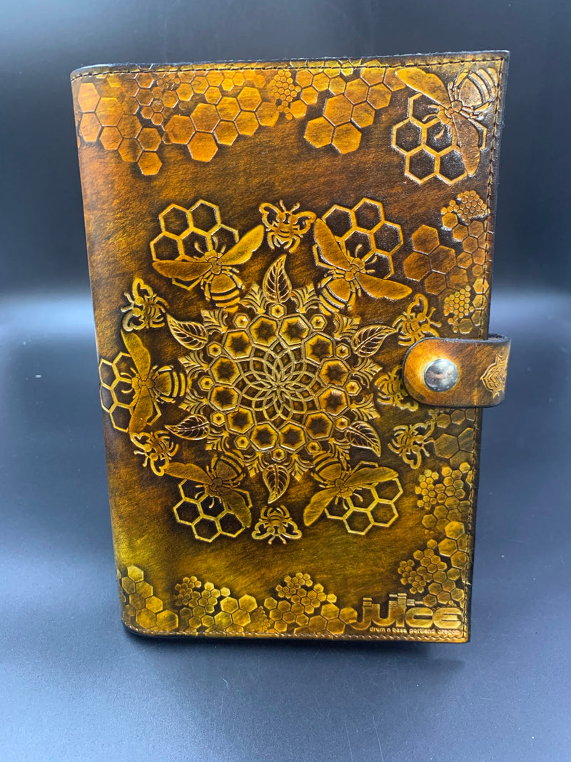 Stamped Leather Journal-Bees