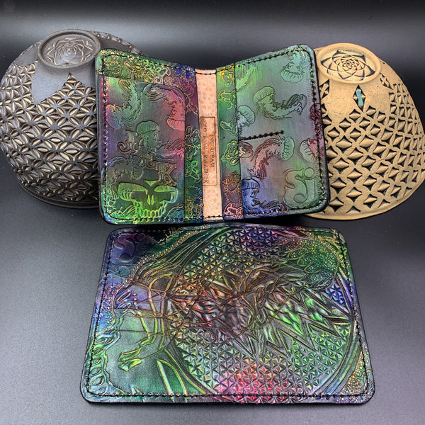 Carved Leather Passport Wallet- Custom