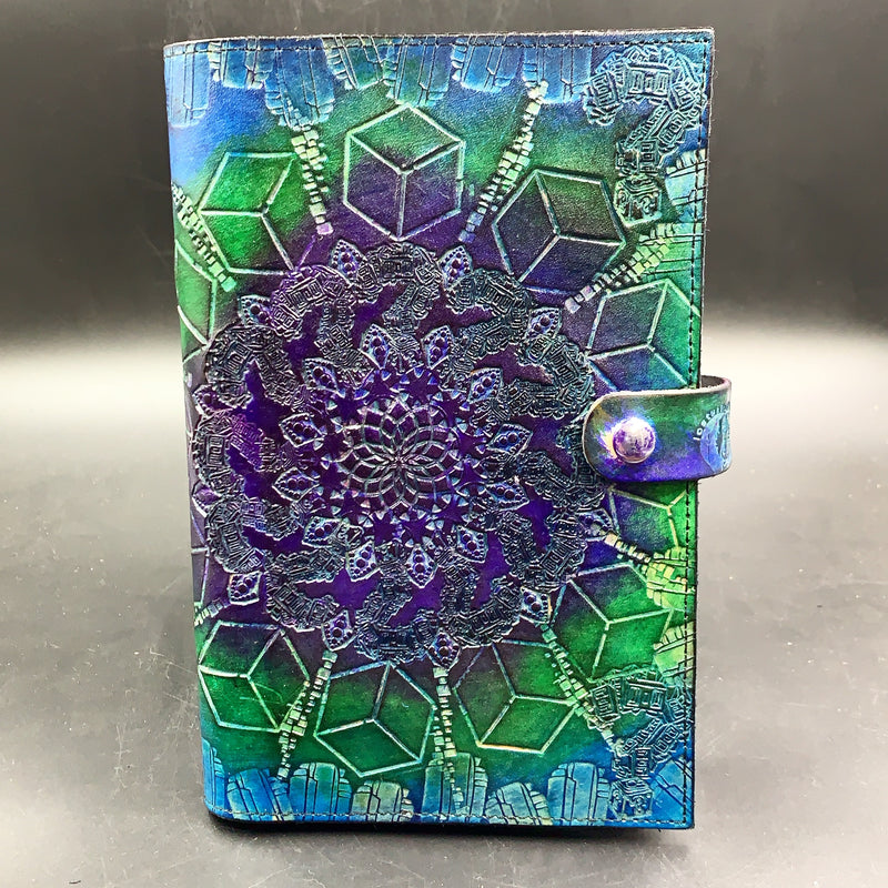 Stamped Leather Journal-Platonic Solids