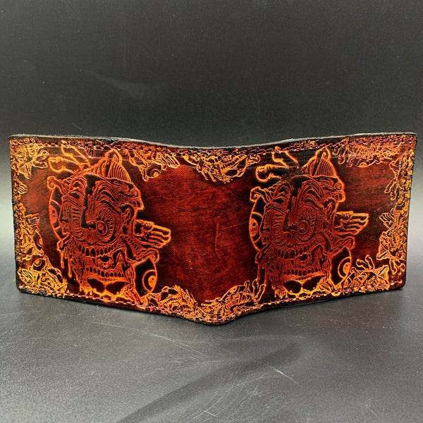 Stamped Leather Bifold Wallet- Artist Series: Aaron Brooks