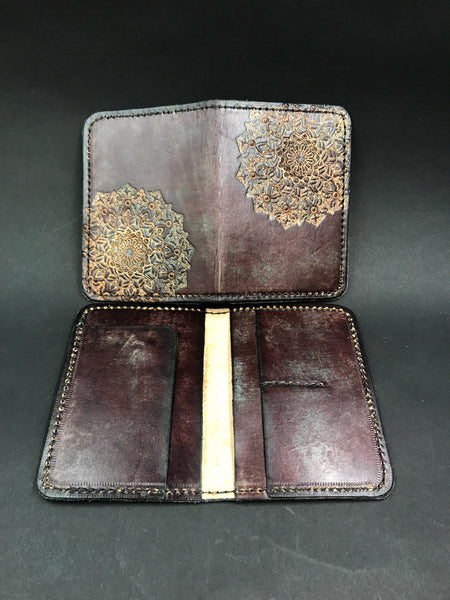 Stamped Leather Passport Wallet- Miscelaneous