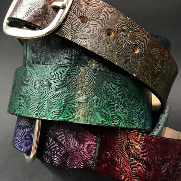 Stamp Leather Belt- Mr Melty Landscapes