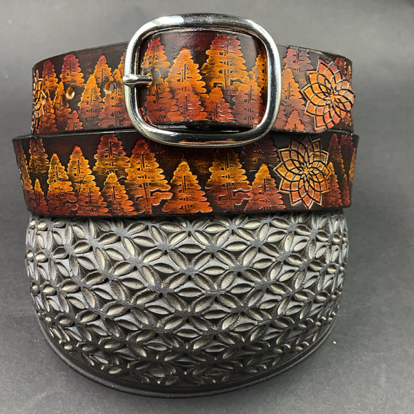 Stamp Leather Belt-Trees