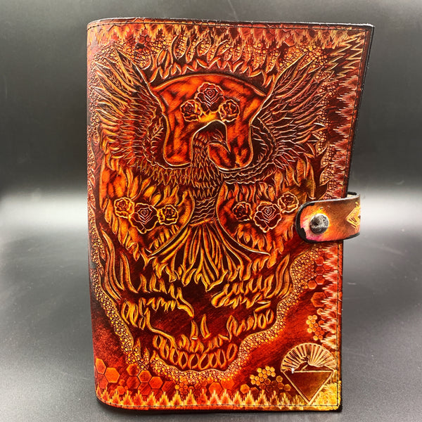 Carved Leather Journal-Grateful