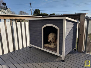 A4Pet Outdoor Dog House Weather Protected Raised Easy To Clean Small Medium Large Size Available