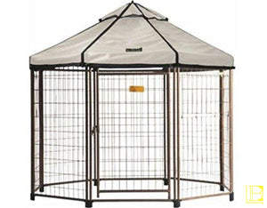 Advantek Original Pet Gazebo Outdoor Dog Kennel With Reversible Cover 4 Ft (Small) / Beach Sand