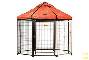 Advantek Original Pet Gazebo Outdoor Dog Kennel With Reversible Cover 4 Ft (Small) / Desert Sunset