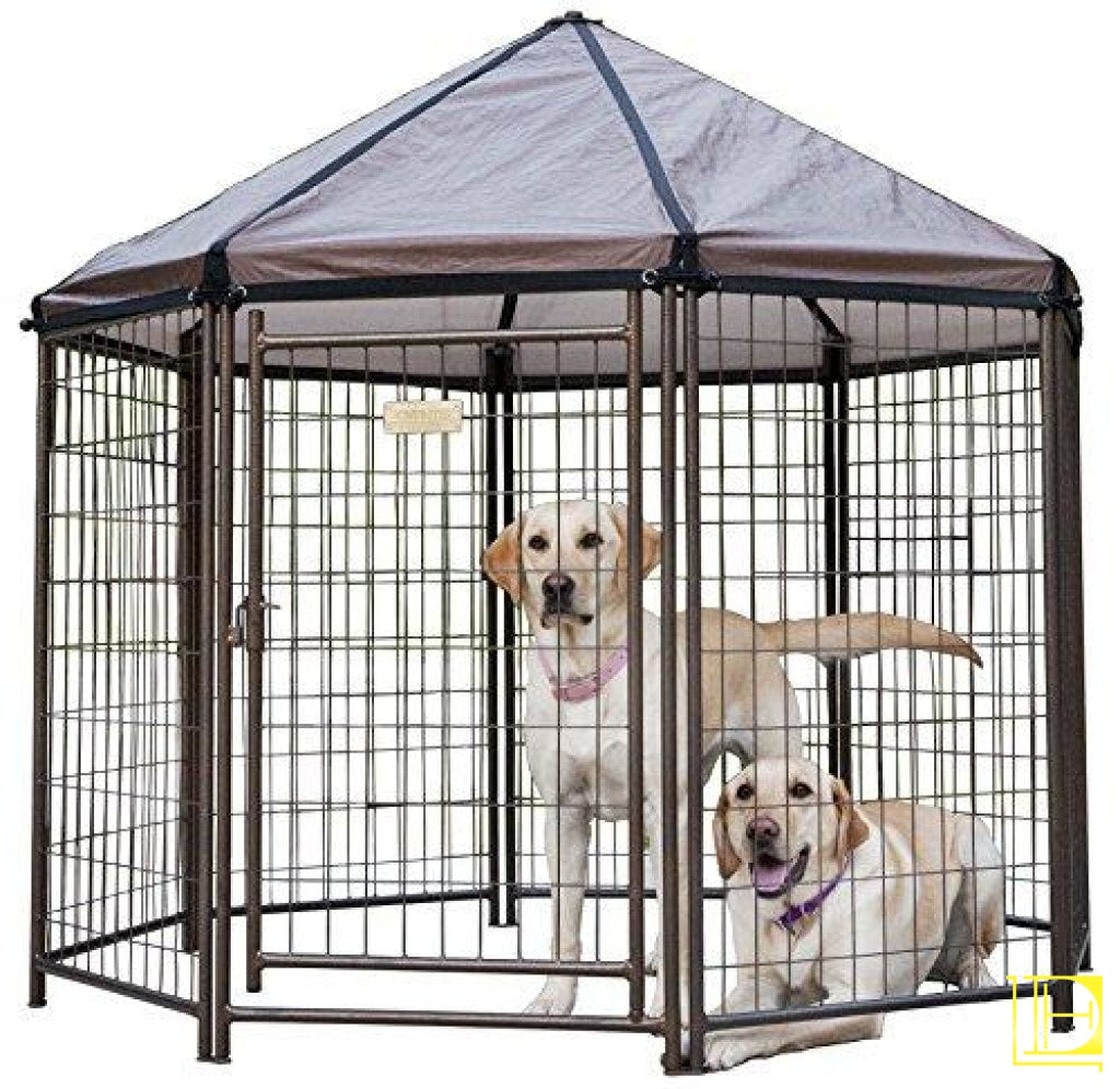 Advantek Original Pet Gazebo Outdoor Dog Kennel With Reversible Cover