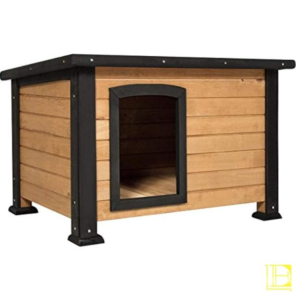 Best Choice Products Wooden Log Cabin Dog House W/opening Roof For Small Dogs Outdoor Kennel Pet