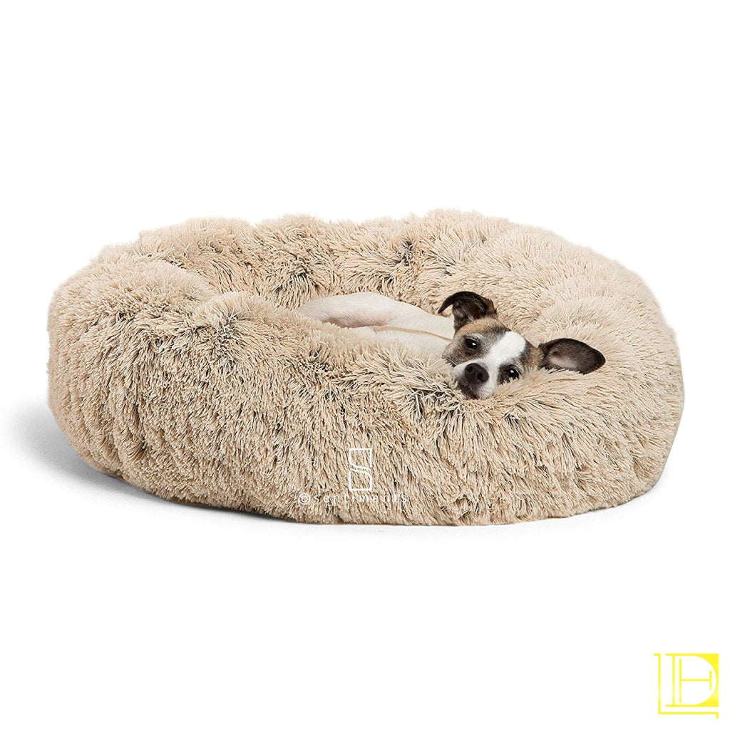 Best Friends By Sheri Luxury Shag Fuax Fur Donut Cuddler (Multiple Sizes) Round Cat And Dog Cushion