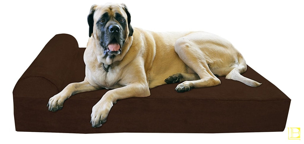 Big Barker 7 Pillow Top Orthopedic Dog Bed For Large And Extra Breed Dogs (Headrest Edition) (52 X