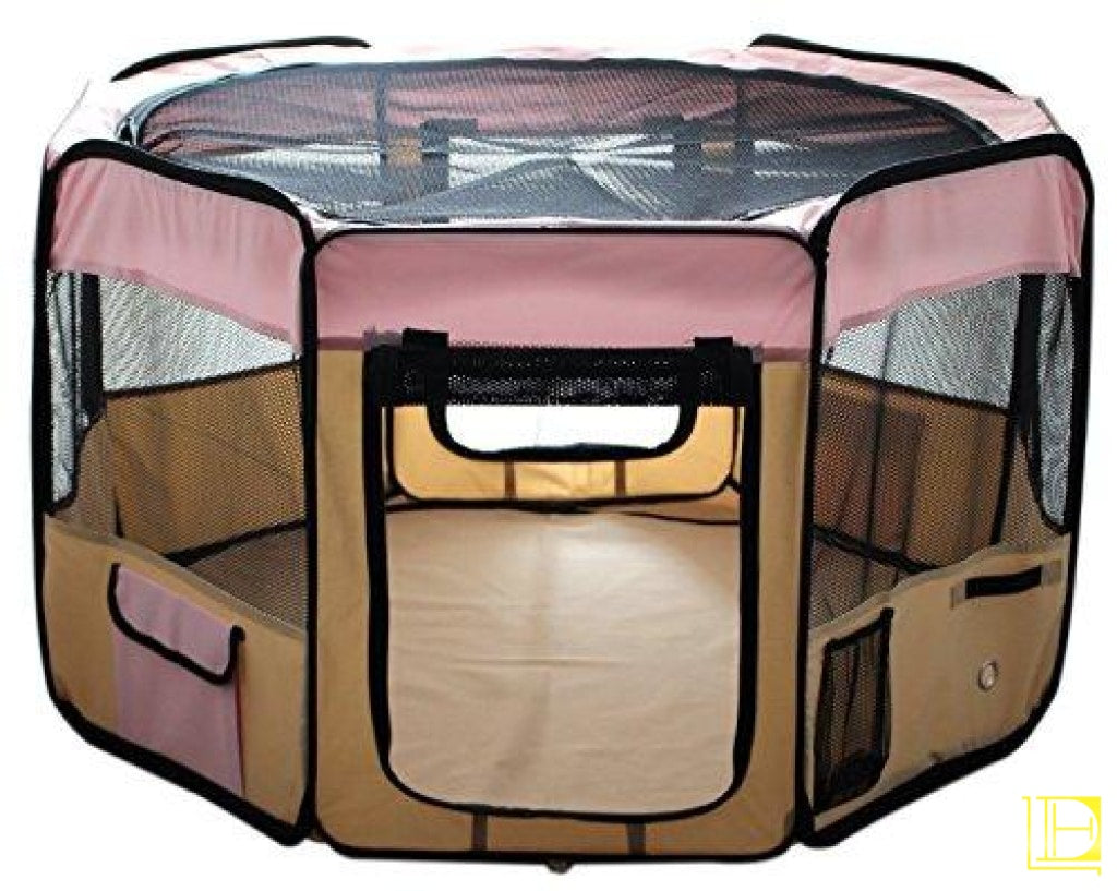 Esk Collection Blue 45 Pet Puppy Dog Playpen Exercise Pen Kennel 600D Oxford Cloth 48 Pink Playpens