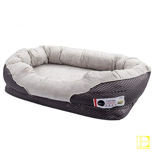 Grey Orthopedic Memory Foam Dog Bed
