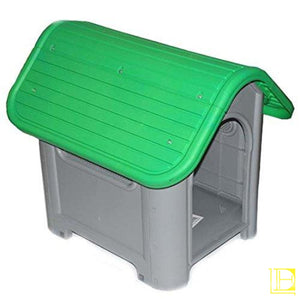 Indoor Outdoor Dog House Small To Medium Pet All Weather Doghouse Puppy Shelter Green