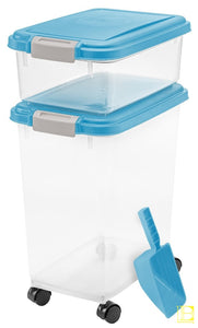 Iris 3-Piece Airtight Pet Food Container Combo Blue Moon