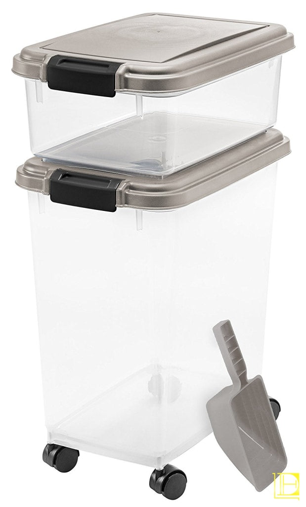 Iris 3-Piece Airtight Pet Food Container Combo Chrome