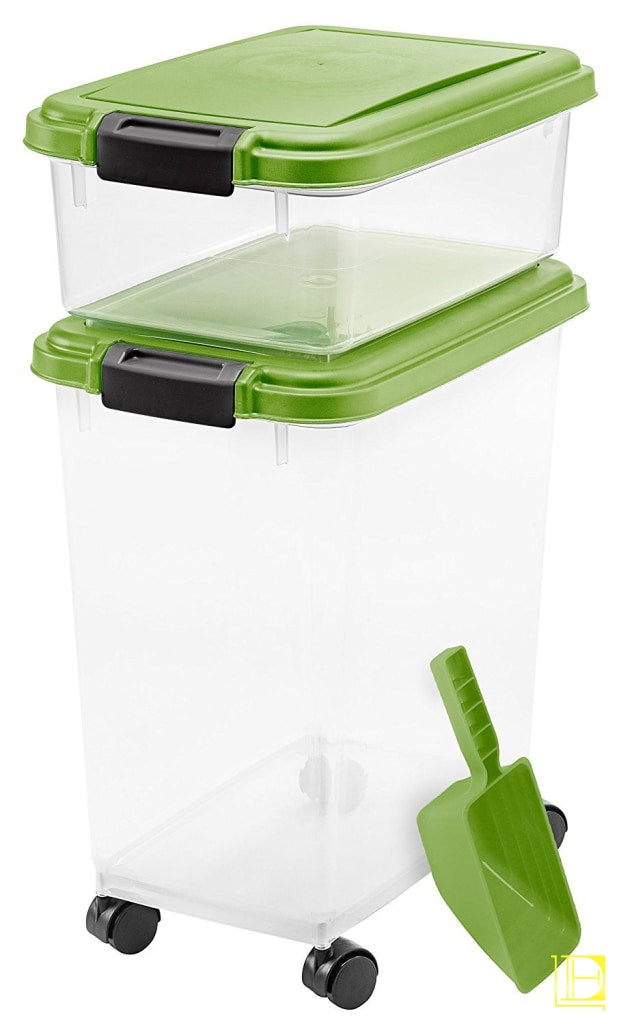 Iris 3-Piece Airtight Pet Food Container Combo Green