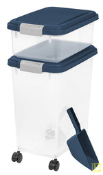 Iris 3-Piece Airtight Pet Food Container Combo Navy Blue