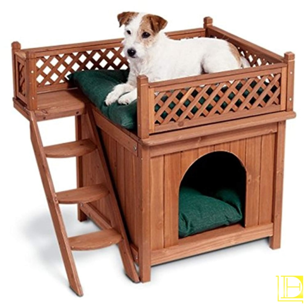 Kiln-Dried Cedar All-Purpose Wooden Dog House