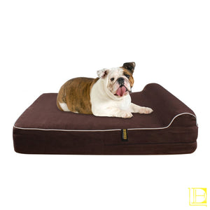 Kopeks Orthopedic Memory Foam Dog Bed With Pillow And Waterproof Liner Large / Dark Chocolate