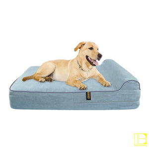 Kopeks Orthopedic Memory Foam Dog Bed With Pillow And Waterproof Liner Small / Dark Chocolate