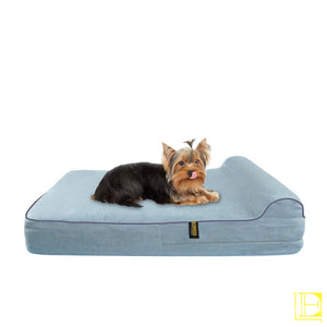 Kopeks Orthopedic Memory Foam Dog Bed With Pillow And Waterproof Liner Small / Grey